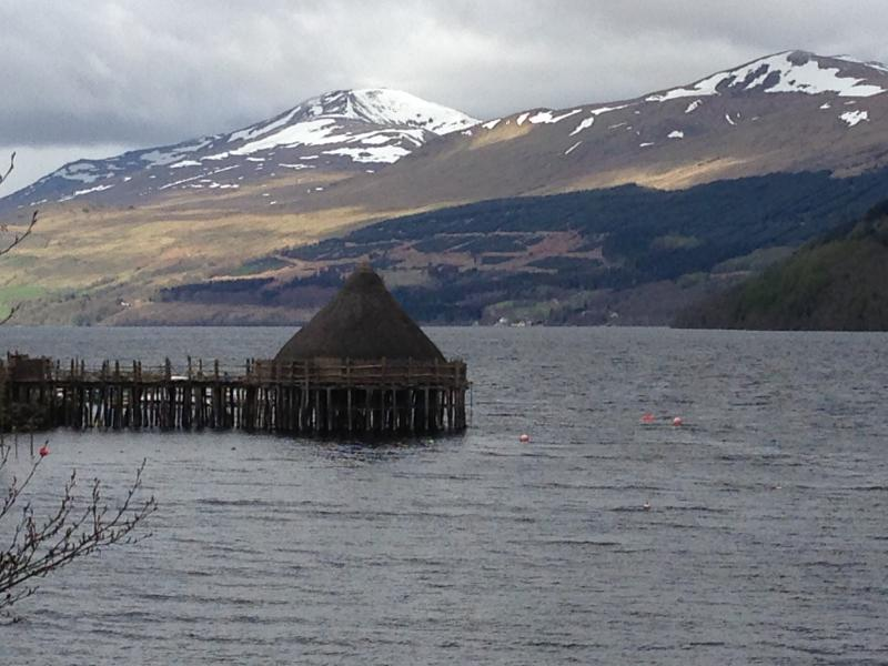 Crannog with Ben Lawers in the background