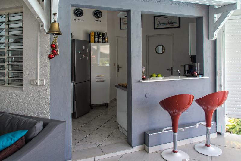 Kitchen open to living