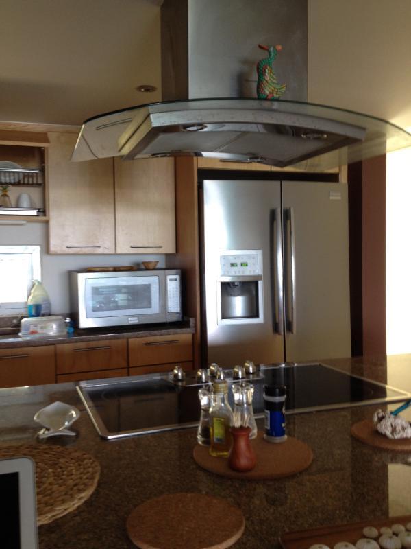 Kitchen tour: refrigerator, microwave