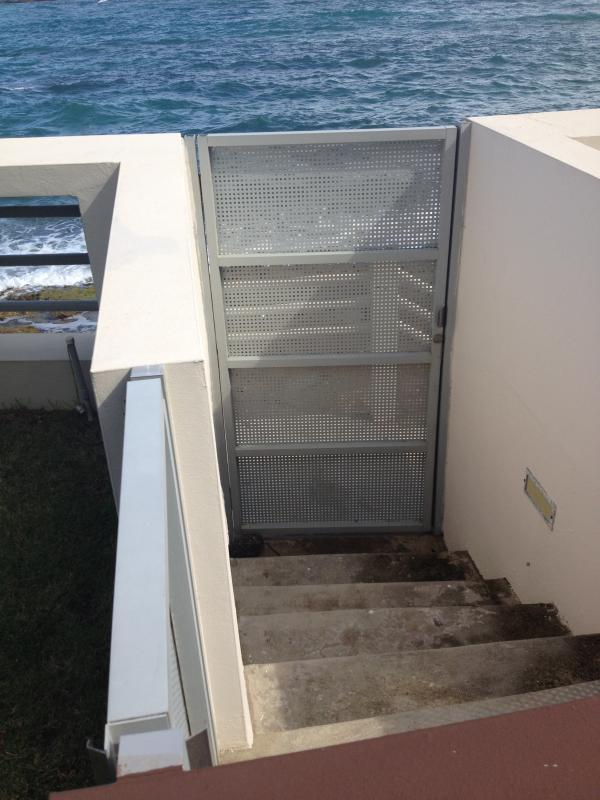 Your personal steps from the terrace to the ocean gate