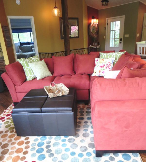 The sectional provides a gathering space for all.