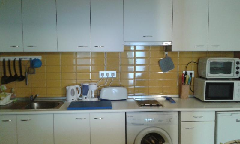 very good furnished kitchen; lot of appliences, washing machine, BBQ, oven, microwave, hook