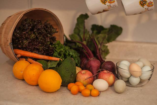 We nemen boerderij verse producten in uw keuken.