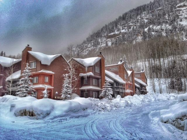 Winter wonderland, located right on the mountain.