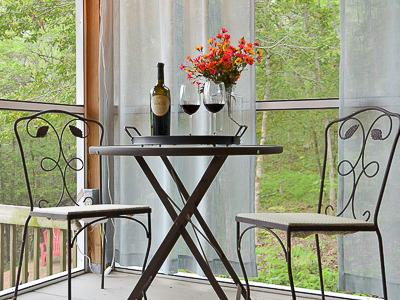Bistro Table in Screened Room