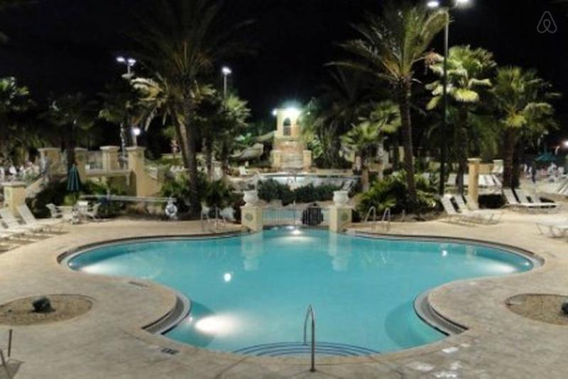Regal Palms resort at Night.