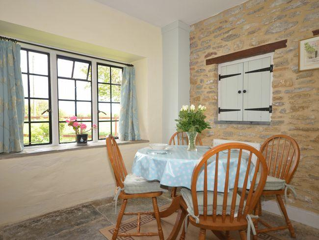 Dining area with views over the garden