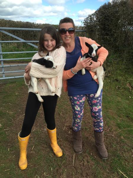 We do allow families to go up and see our lambs when we can accompany you.