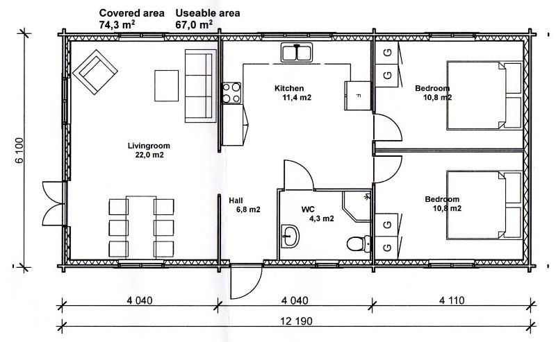 Cabin Size and Rough Layout