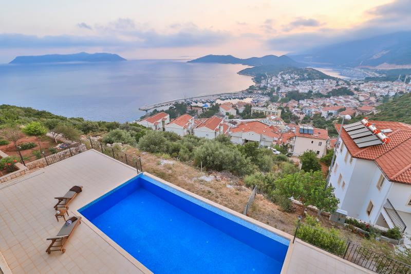 Swimming pool with views over Kas
