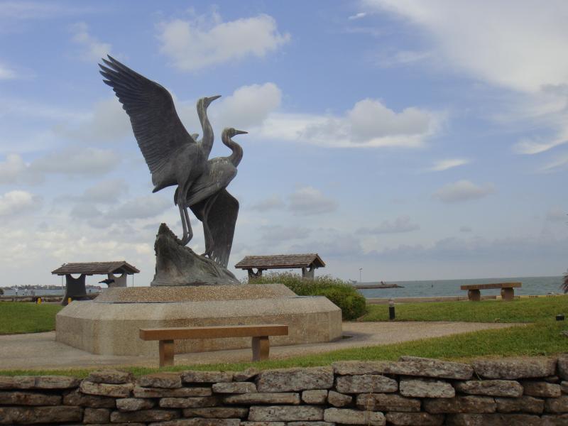 Enjoy the Rockport Sculpture Garden across from the Aquarium