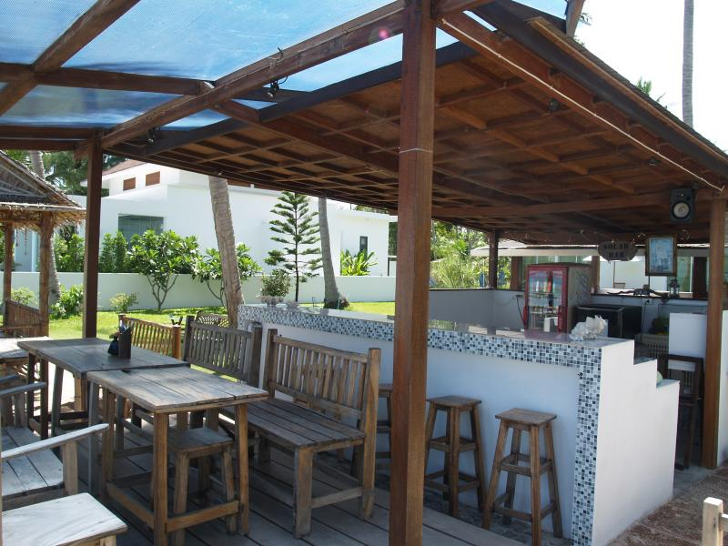 Bar area, next door to the villa