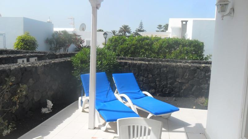 sunny terrace to relax