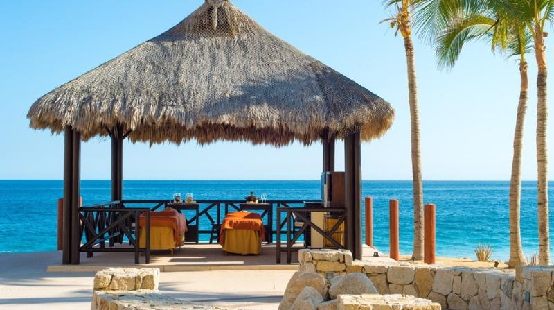 dining under a Palapa