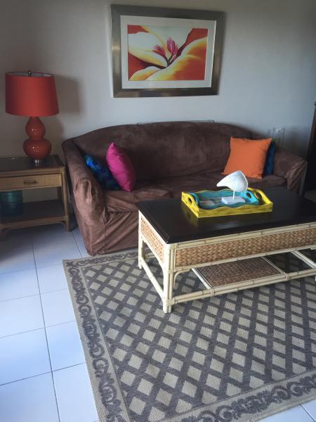 Arriba del sofá