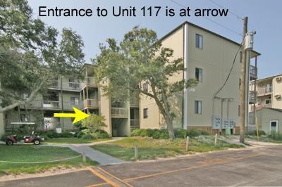 Edificio 2 con freccia che punta a ingresso 117