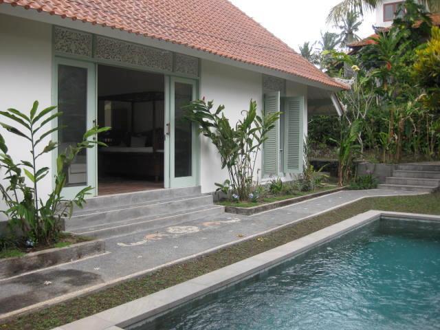 Front Door to Villa Manis with Pool View