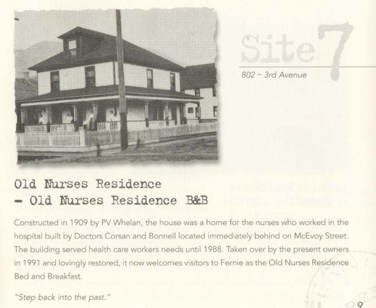 Schritt zurück in die Vergangenheit! Das Bed And Breakfast wurde 1908 für Fernie Krankenhaus-Arbeitern gebaut.