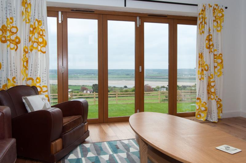 The view of the estuary from the sitting room
