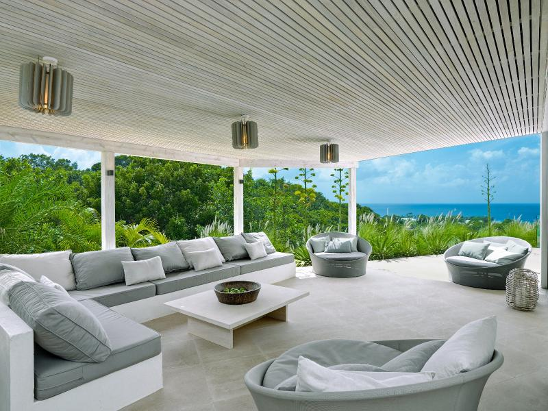 Covered terrace for lounging day or night