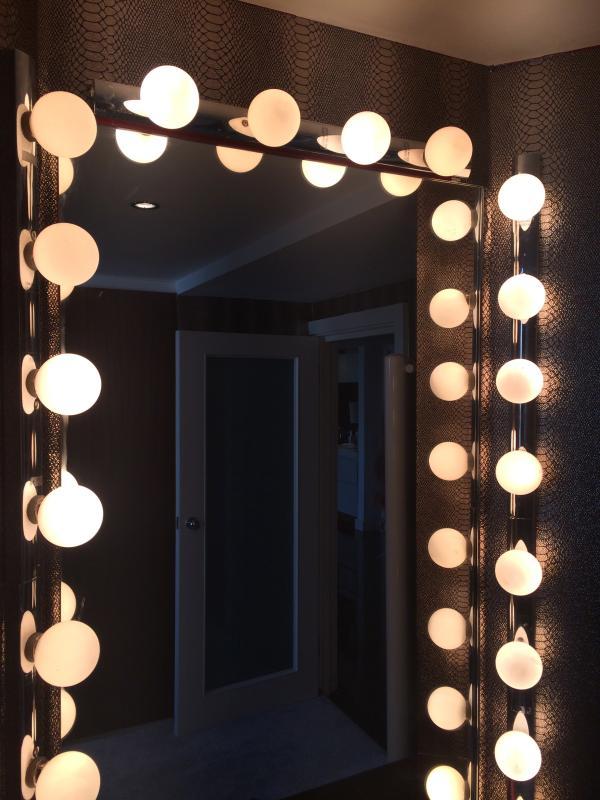 Vanity mirror in 2nd bedroom. Plenty of closet storage space.