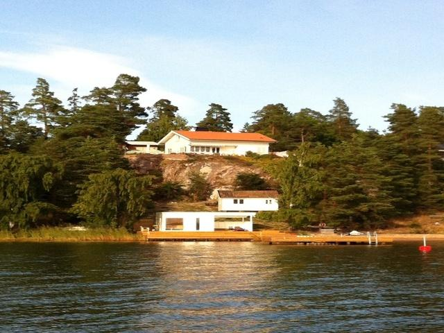 View of the seaside property from the sea