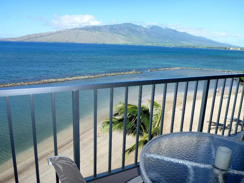 Lanai view, with your sandy beach below