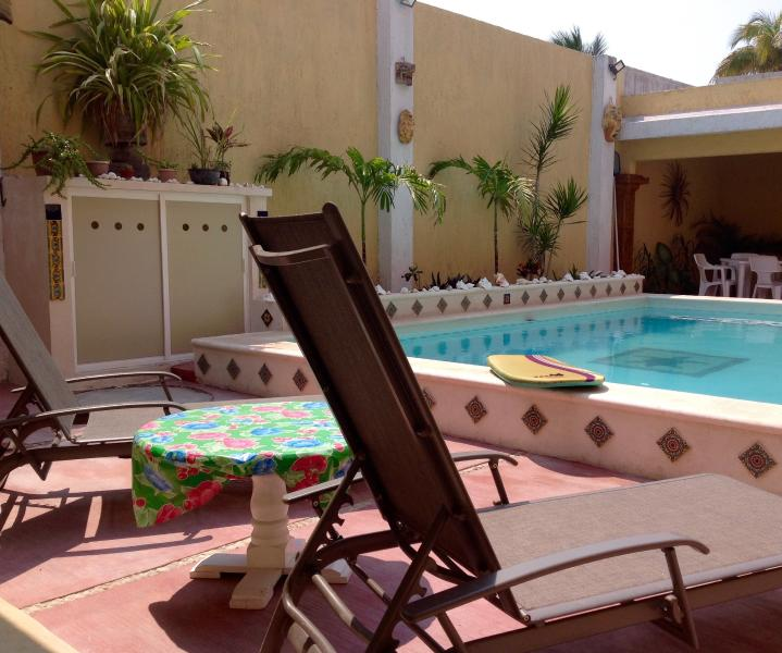Sit poolside, steps from your casita. Enjoy the ease of a relaxing stay.