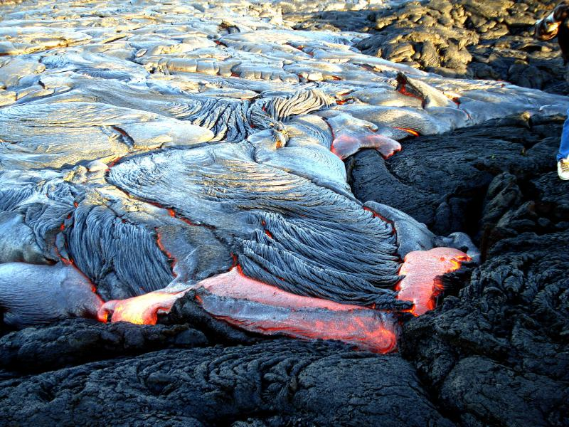 See the lava flow in action!
