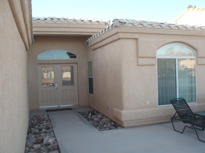 Front Door and Courtyard