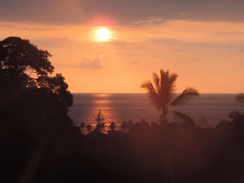 Sunset views from the lanai are beautiful