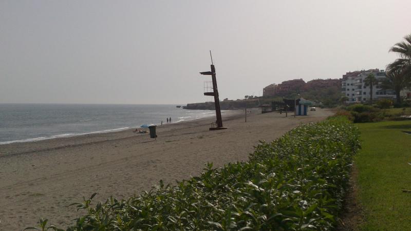 Beach right next door