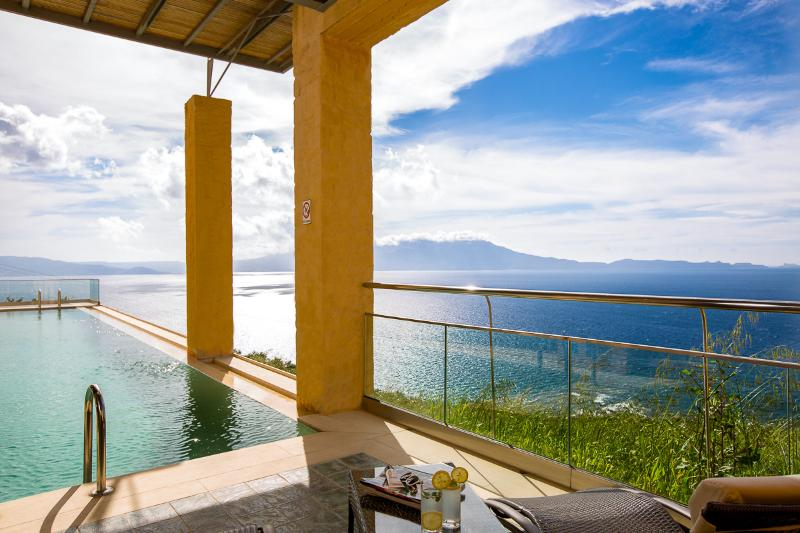 Private infinity swimming pool with panoramic view!