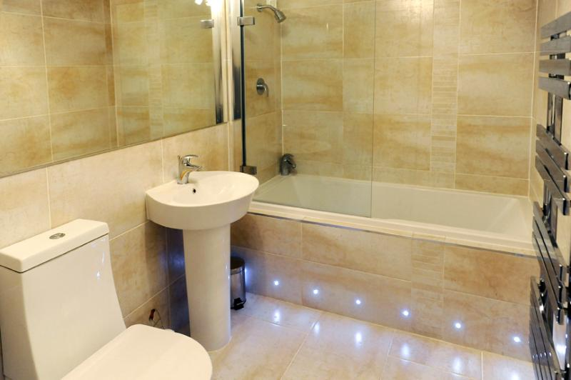 Stylish modern family bathroom with quality fixtures and fittings