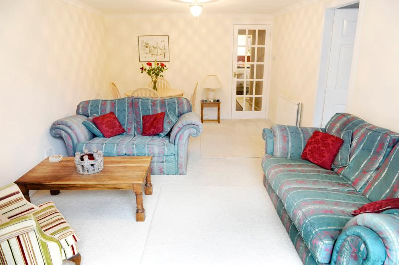 Spacious lounge with free Wi-Fi and flat screen television with BT vision television package