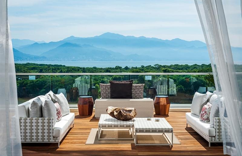 Super balcon avec vue sur montagnes, océan et / ou du centre-ville de PV