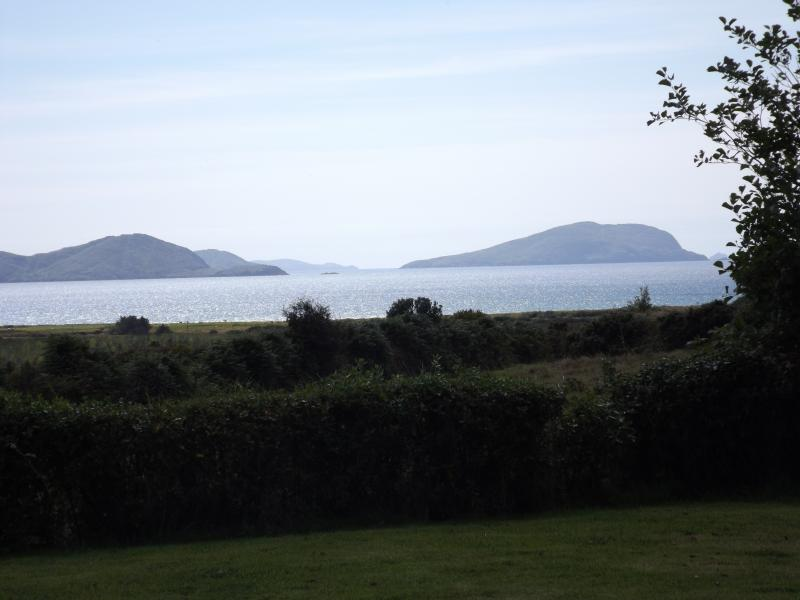 The fantastic views of Ballinskelligs Bay, Reenore Beach and Waterville from the house