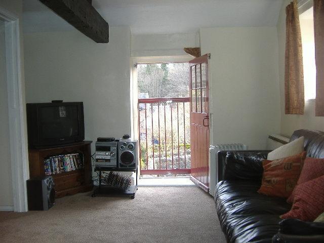 Living Room with hayloft door