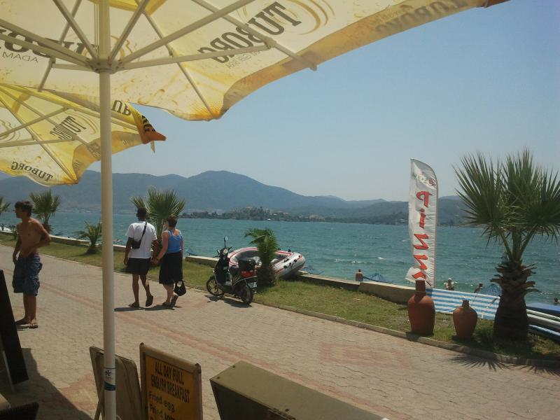 Calis Beach & promanade looking towards Fethiye