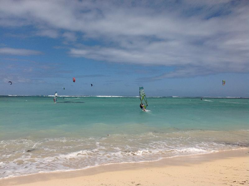 Le Morne is probably the most beautiful beach in Mauritius and a kite & wind surfing mecca