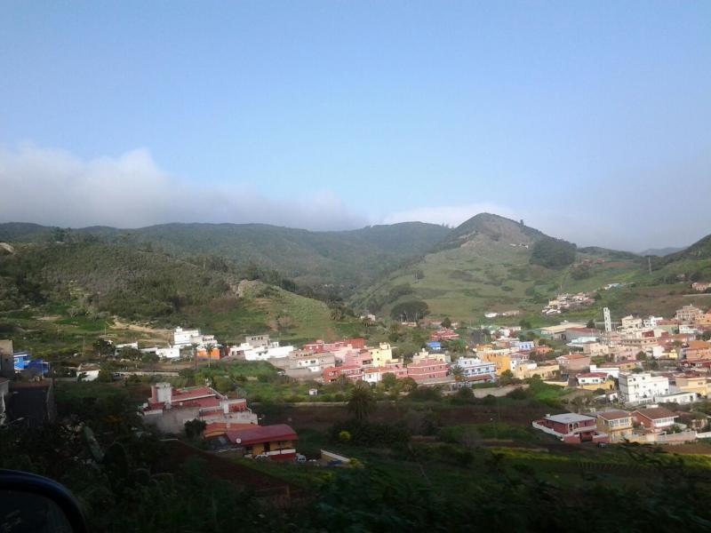 Las Mercedes  Vista panorámica del pueblo desde el Apt rural