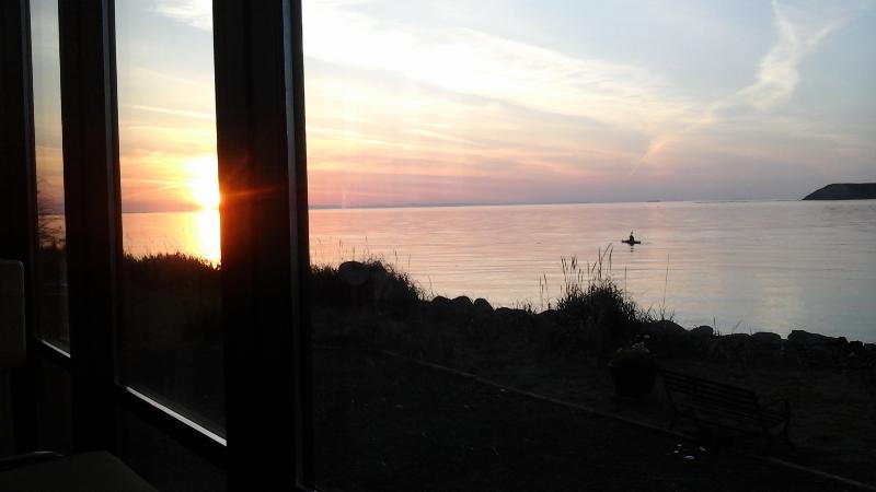 Kayaker at sunset!