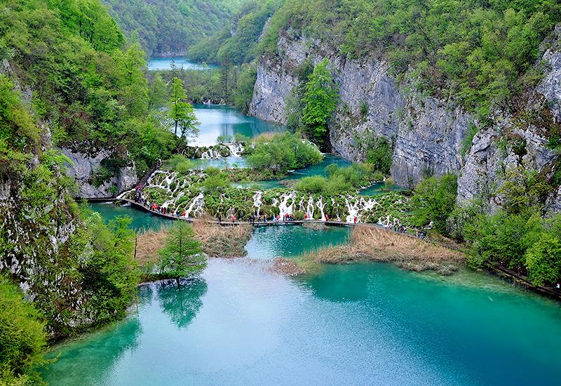 Plitvice Lakes from lookout..