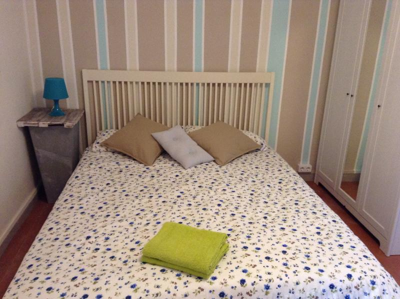 Bedroom 2 has a double and single bed