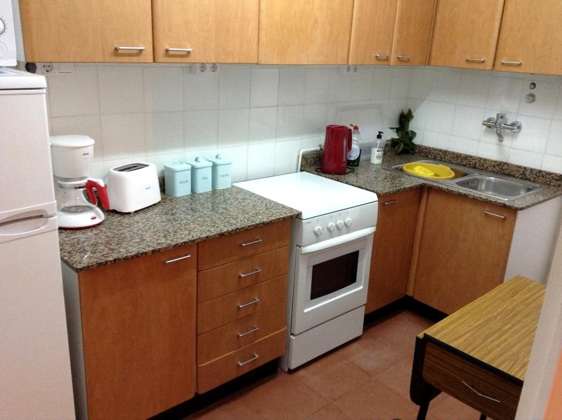Kitchen has everything you need for self catering