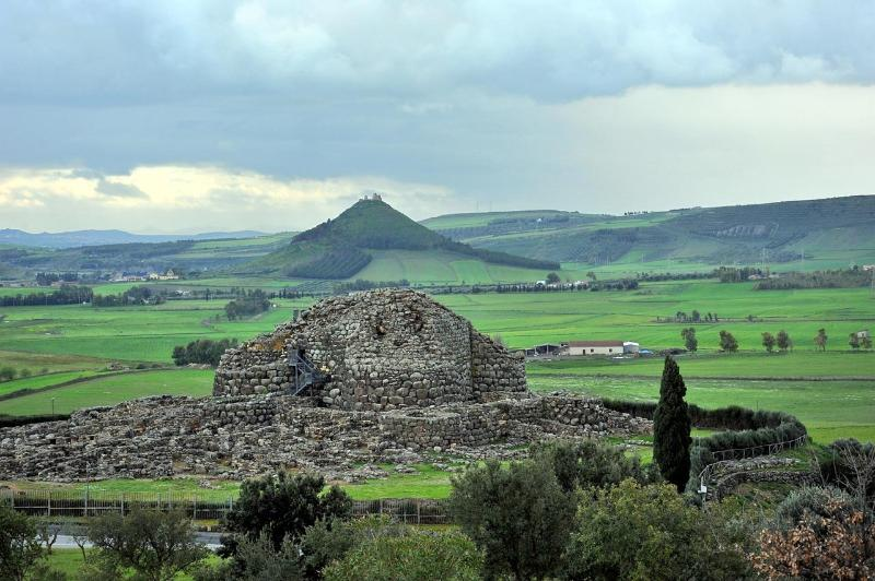 The ancient Nuragic city of Barumini.