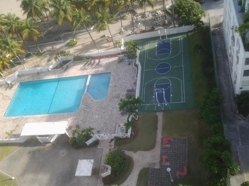 Swimming Pool and full basketball court