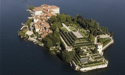 Aerial view Isola Bella