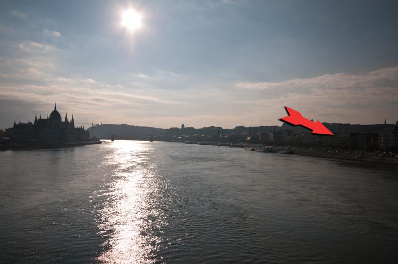 The apartment is located on the Banks of the River Danube on the Buda side