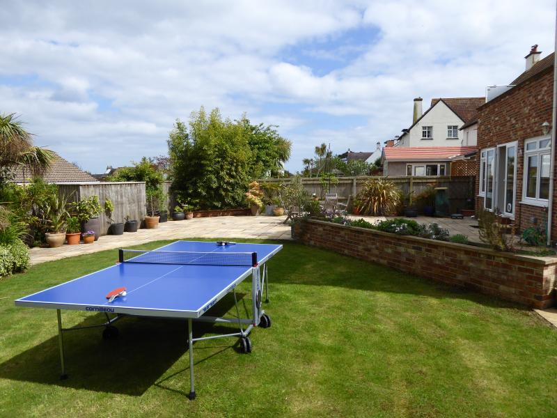 Table Tennis set up in the private garden